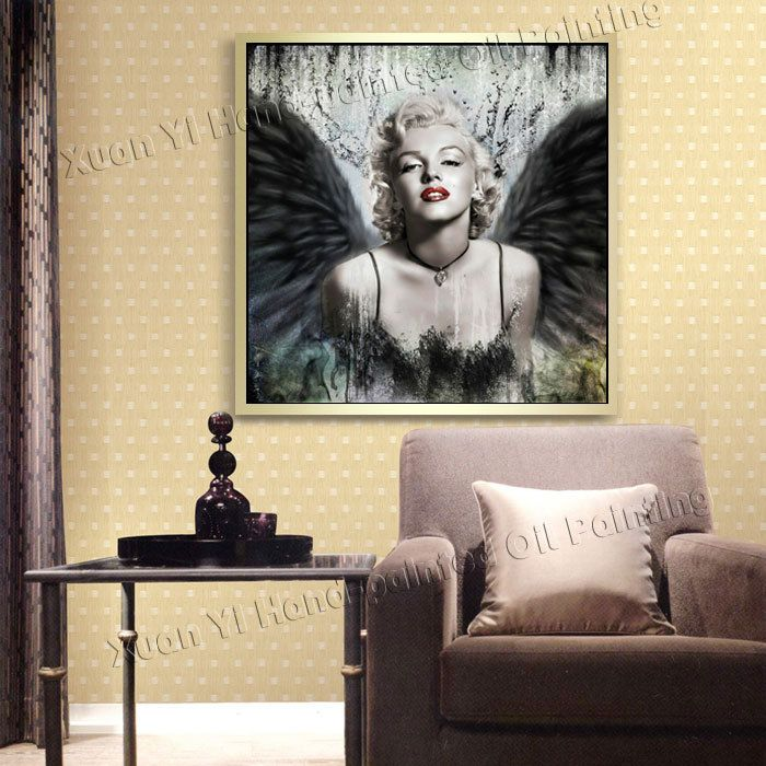 Canvas Wall Art Marilyn Monroe Black and White Picture Print Home Decor Framed