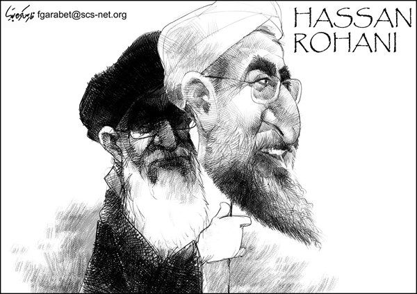 Image result for President Hassan Rouhani TRUMP CARTOON