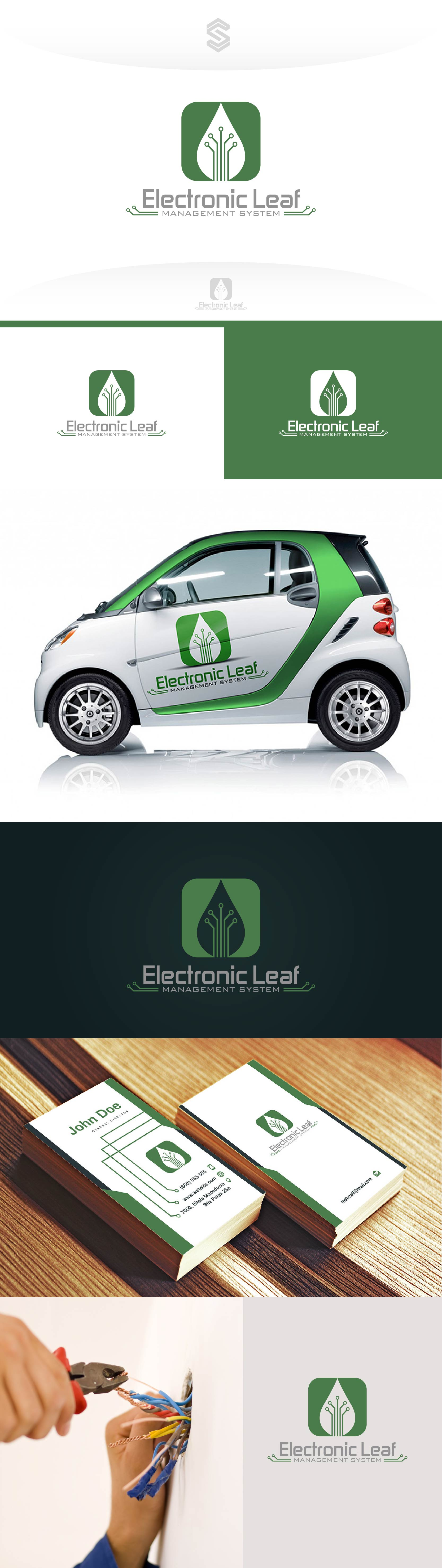 Logo For Electronic Management Systems Company This Modern And Circuit Design Creative Combines Circuits Leaf In One Awesome Combination