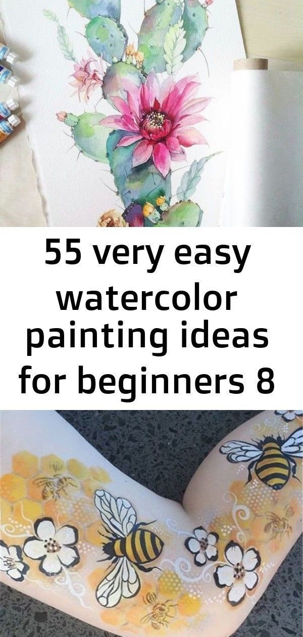 55 very easy watercolor painting ideas for beginners 8