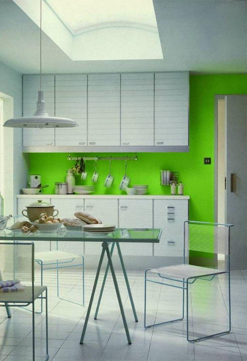 Stylish And Modern Kitchen Color Schemes Simple Kitchen Design Interior Design Kitchen Green Kitchen Designs