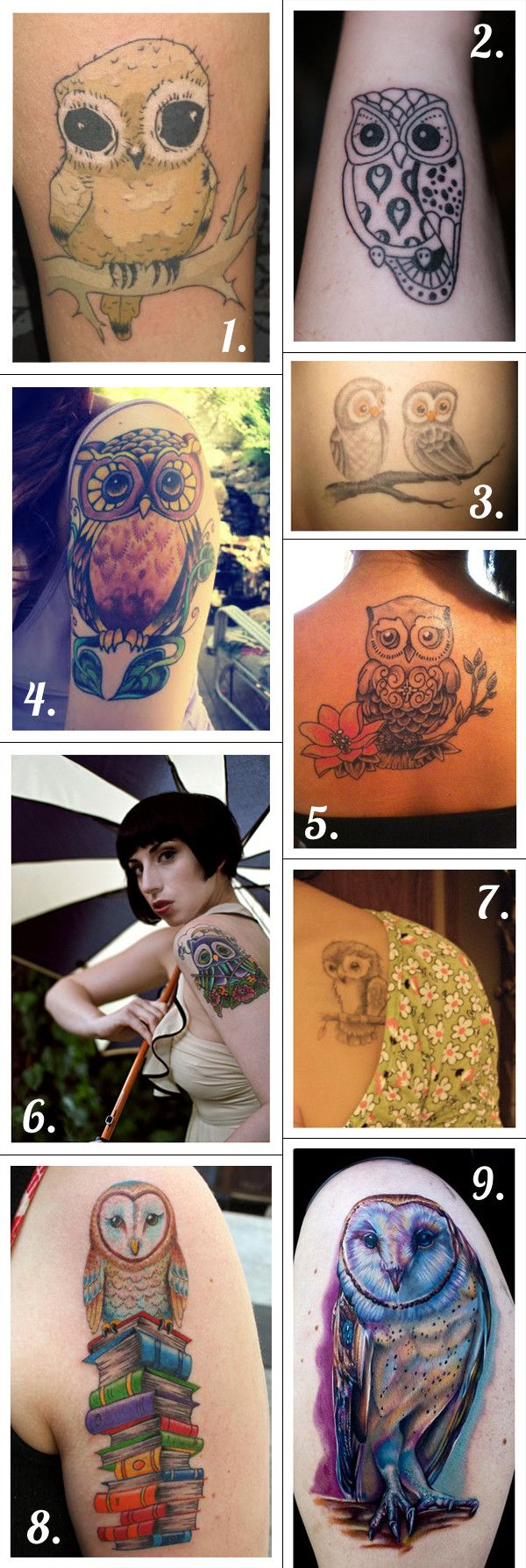 Owl tattoos the bald black eyed chick love tattos for Tattoo bald spot