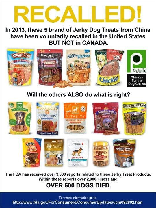 Recalled Dog Treats Dog Food Recipes Food Recalls Jerky Treats