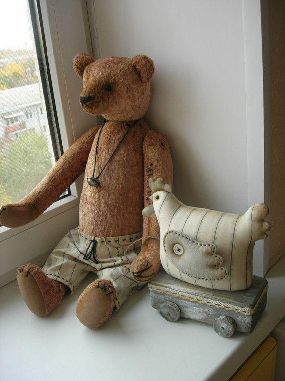 куклы медведь и петух