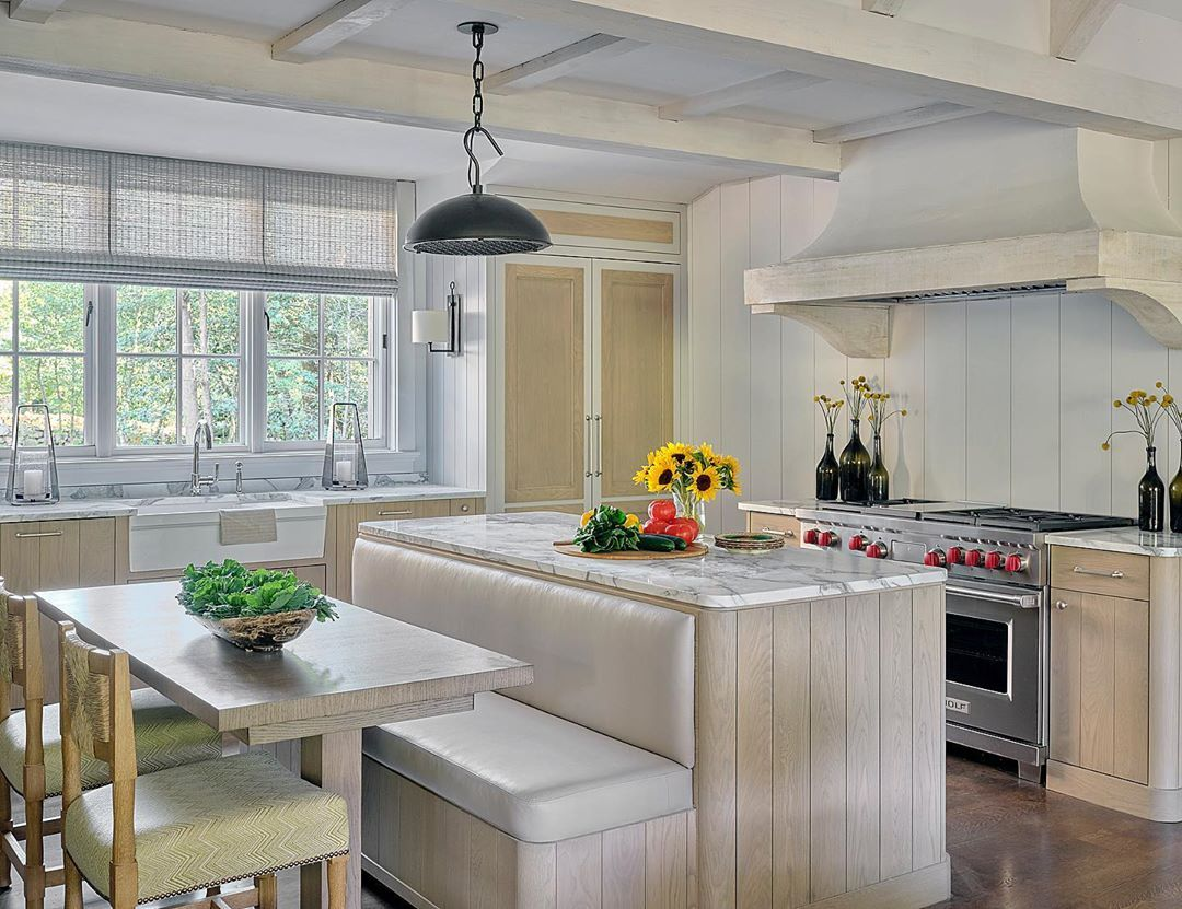 Phoebe Howard On Instagram A Cozy Kitchen In A House At Blackberry Farms A Great Coll Grey Kitchen Cabinets House And Home Magazine Mirrored Kitchen Cabinet