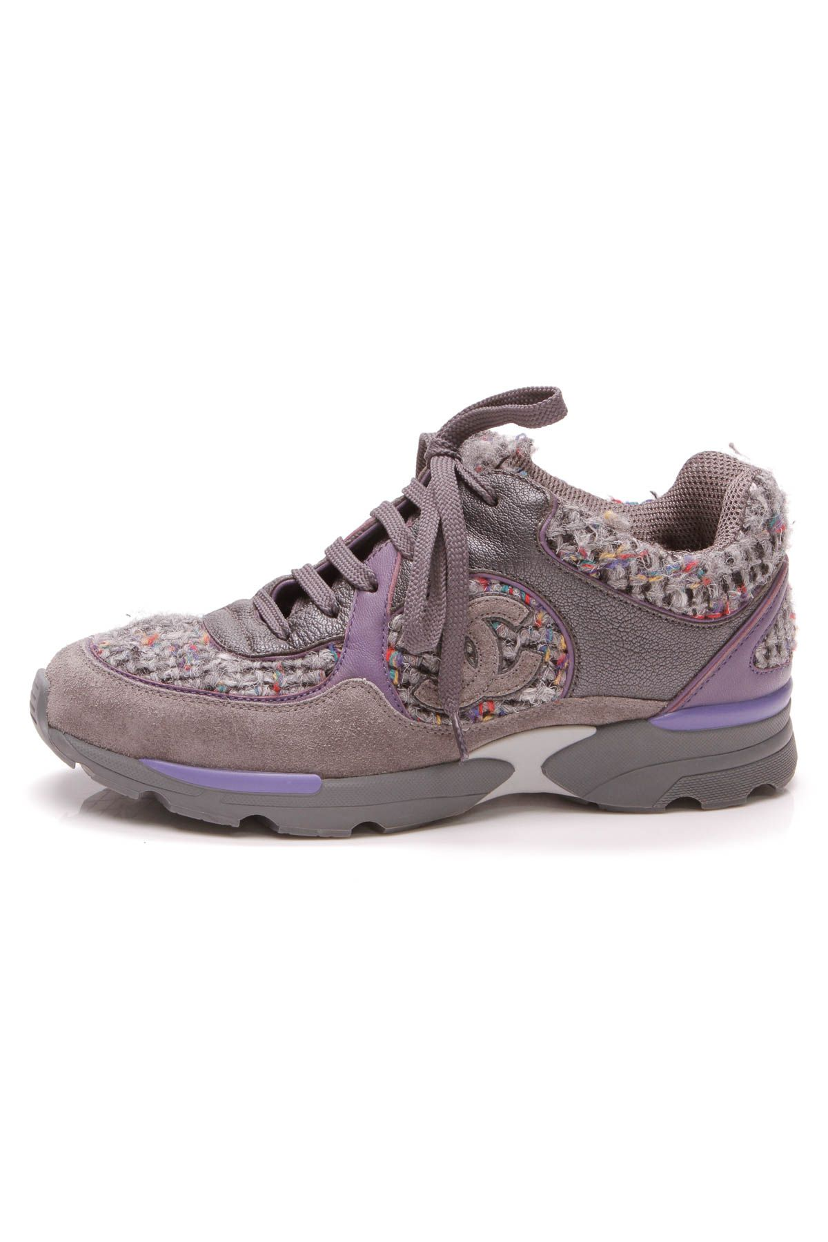 Tweed CC Sneakers - Gray Size 36