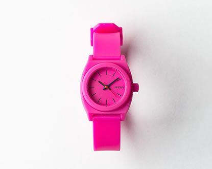 NIXON/THE SMALL TIME TELLER P(HOT PINK)
