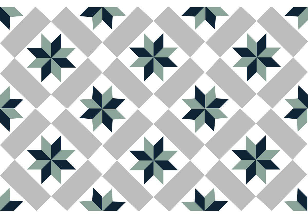 Carrelage geometrique carrelage avec motif cuisine la for Carrelage geometrique