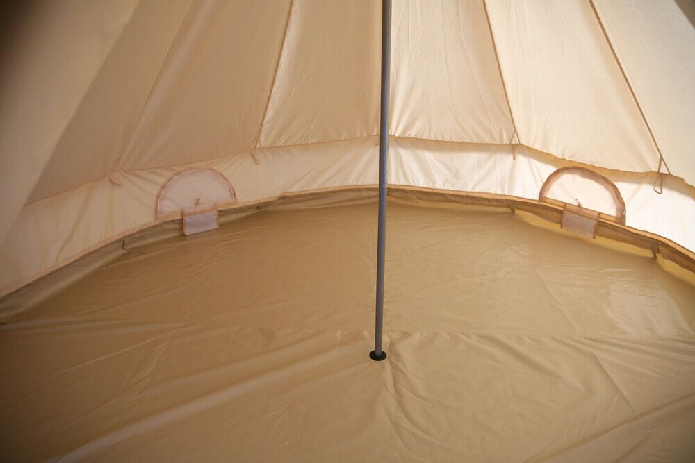 5M Canvas Bell Tent Camping Glamping Family Yurt Tent Beach Teepee Stove Jack 59999
