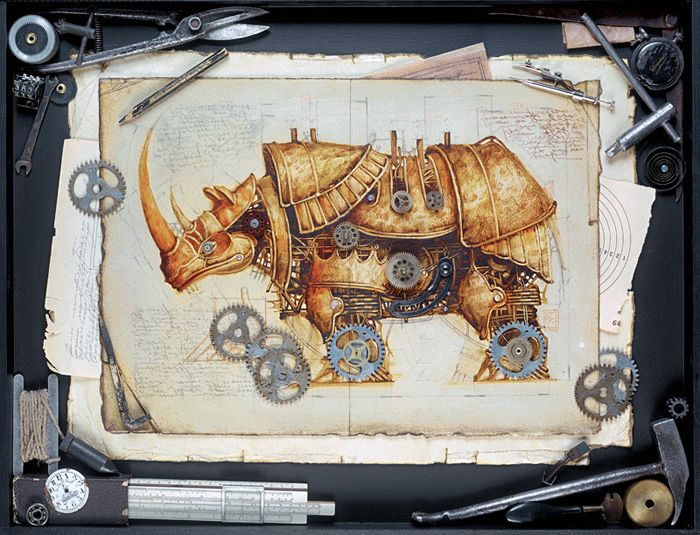 Steampunk Animal Illustration by Vladimir Gvozdev
