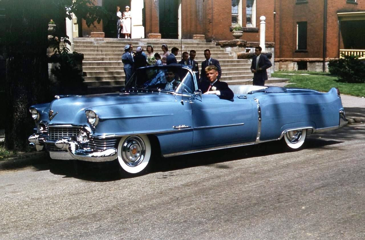 Posing 1954 Cadillac Series 62 Convertible The Good Old1950s Sedan Deville
