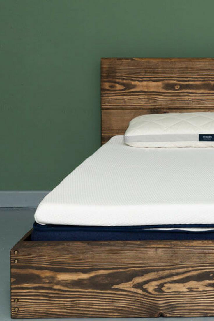 Holzbett Massiv Im Industrial Design Bett Holz Massiv Bett