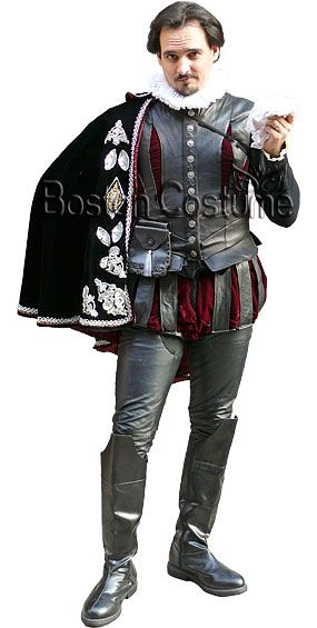 Shakespeare Fancy Dress In White And Blue Neck Ruff Tudor Medieval