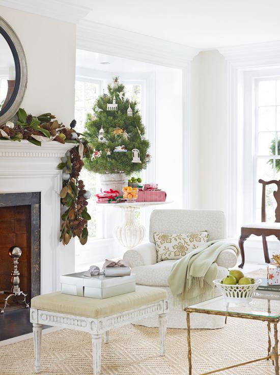 frank babb randolph white christmas traditional home - Traditional Home Christmas Decor