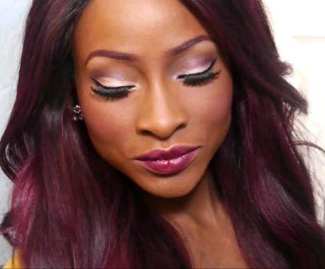 Burgundy Hair Color On Black Women Hairstyle For Black Women Burgundy Hair Hair Color For Black Hair Hair Color For Dark Skin