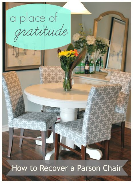 How To Reupholster A Dining Room Chair Gorgeous Reupholstering Parsons Chairs  Dining Room  Pinterest Design Ideas