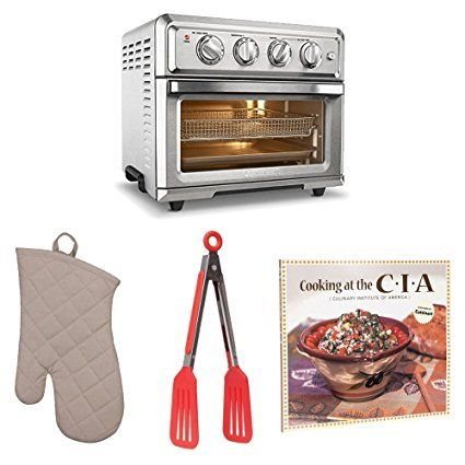 Cuisinart Toa60 Air Fryer Toaster Oven Oven Mitt Flipper Tongs And Cookbook Review Toaster
