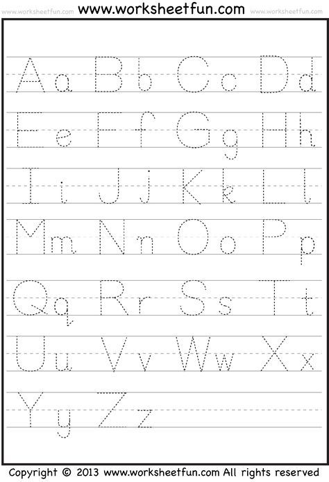 Capital and Small Letter Tracing Worksheet / FREE Printable Worksheets