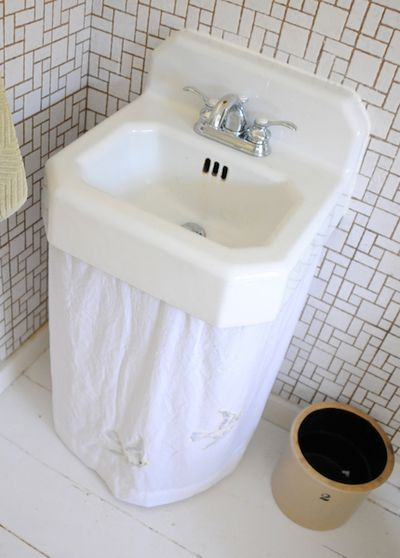 Hiding Pipes Should Do This In My Bathroom Sink Skirt Sink
