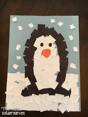 Glue Paper Penguin Craft Fine Motor Practice For Tot School From Mrs Plemons Kindergarten