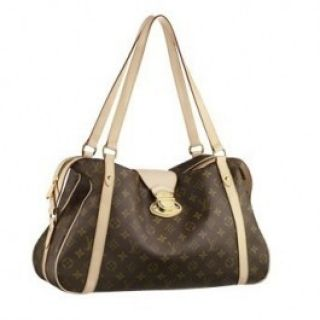Louis Vuitton Monogram Canvas Stresa GM Brown M51188 A wide zipped opening  for easy access to contents  Two interior patch pockets  Large enough to  fit A4 ... ebc3989af733b