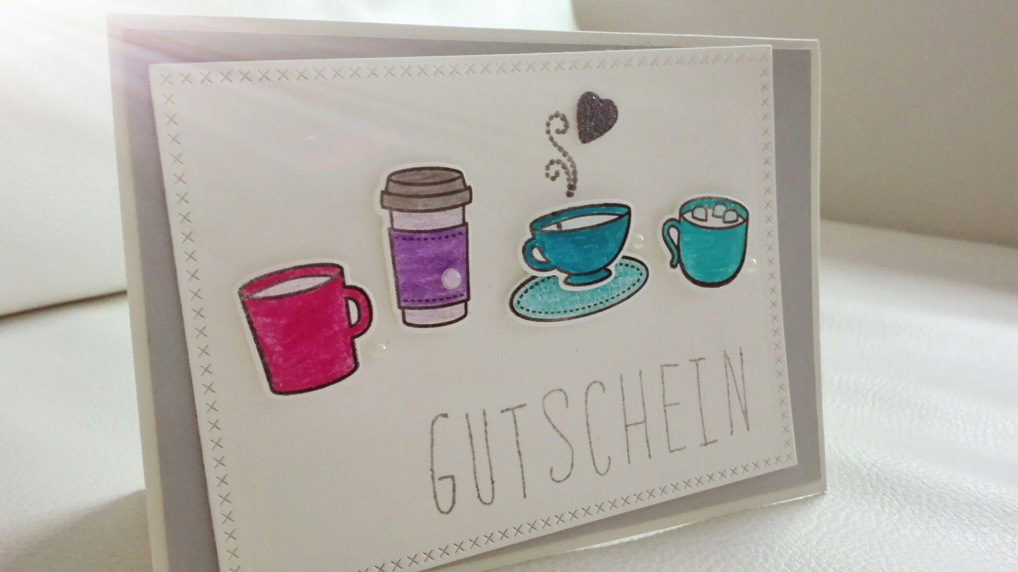 Gutschein / Gift Card using Lawn Fawn Love you a Latte