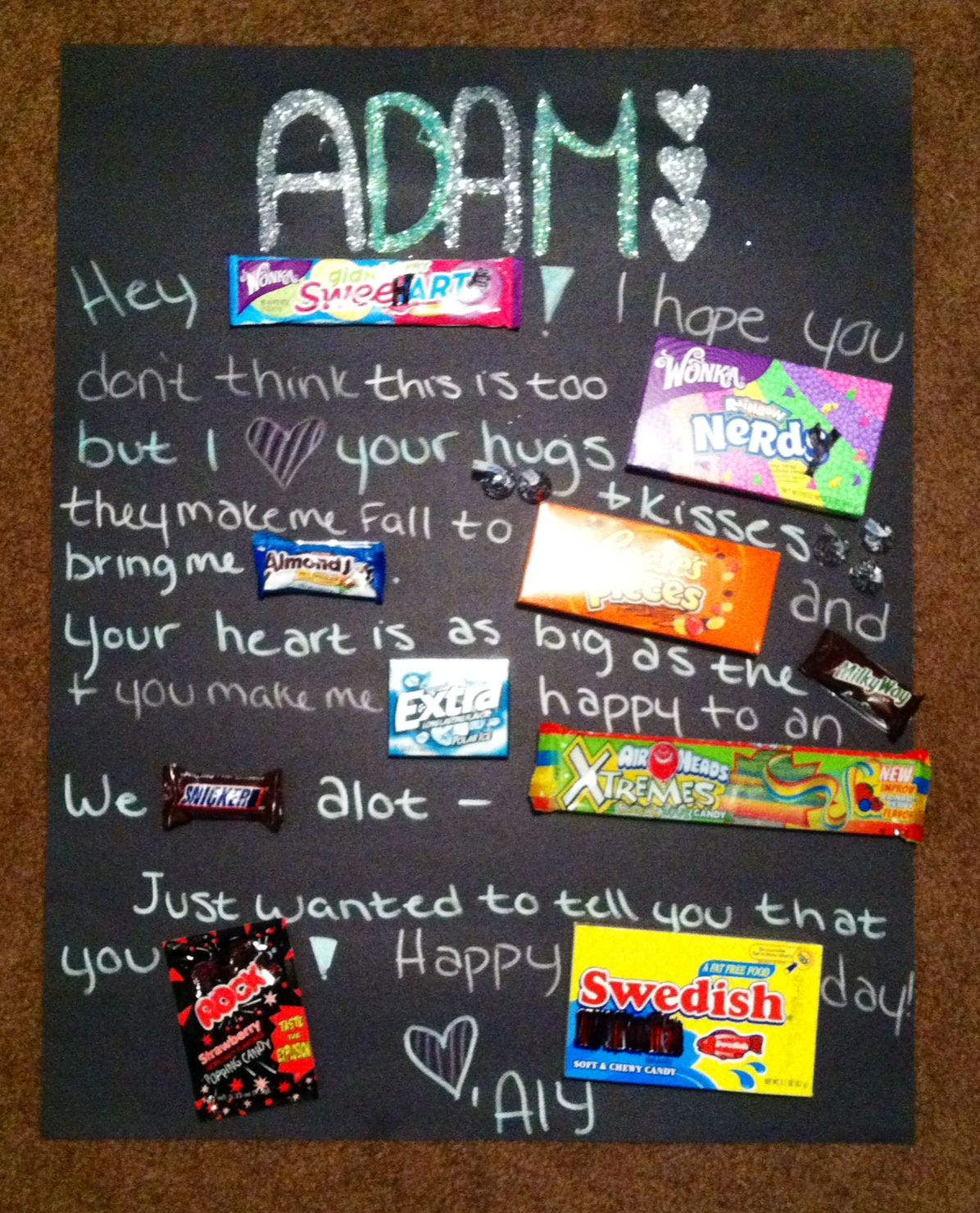 Turned Out So Cute Sweetest Day Gift Candy Poster Creative
