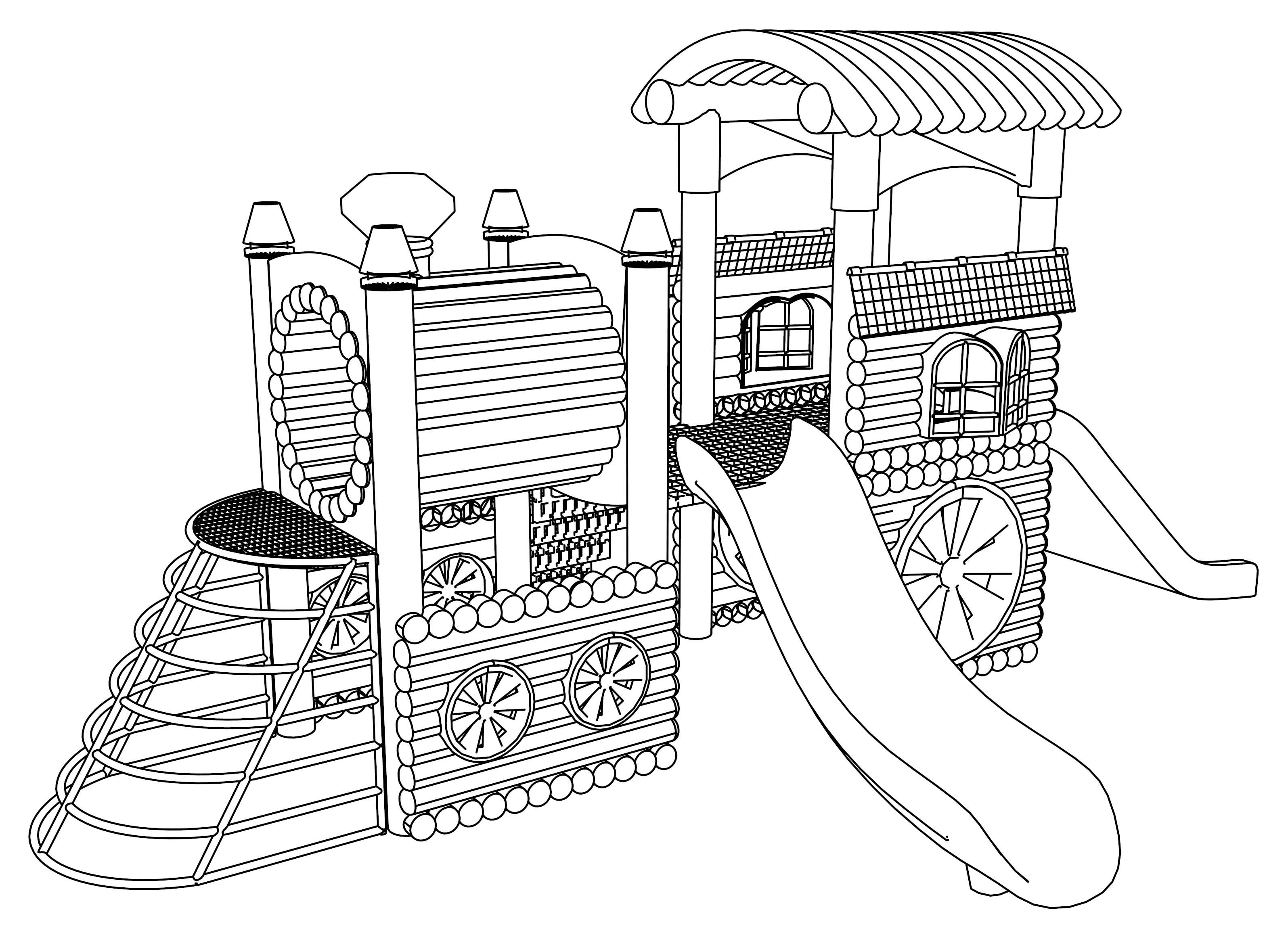 Playground Coloring Pages Kleurplaten