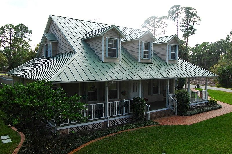 Metal Roofs Are Attractive Durable Green Amp Energy Efficient Metal Roof Houses Residential Metal Roofing House Roof