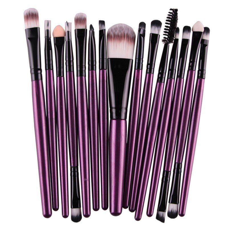 15 Pcs Cosmetic Makeup Brush Women Foundation Eyeshadow Eyeliner Lip Brand Make Up Pincel Maquiagem Eye Brushes Set – ZB