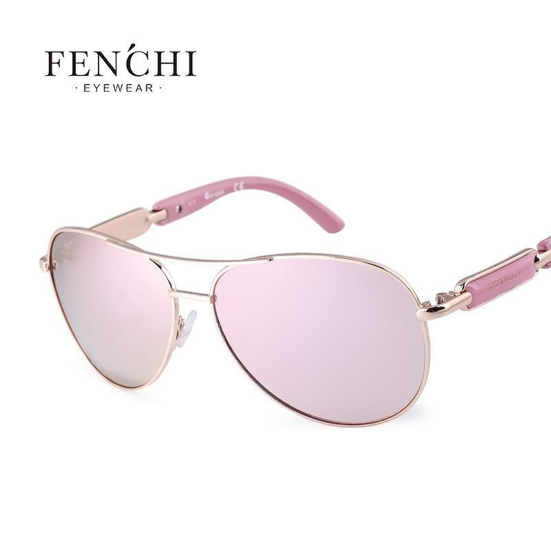405b30693ca FuzWeb Fenchi sunglasses women metal hot rays glasses driver pilot mirror  fashion men design new