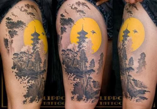 Here are the 32 Stunning Scenic Tattoo Designs to get inspired by!