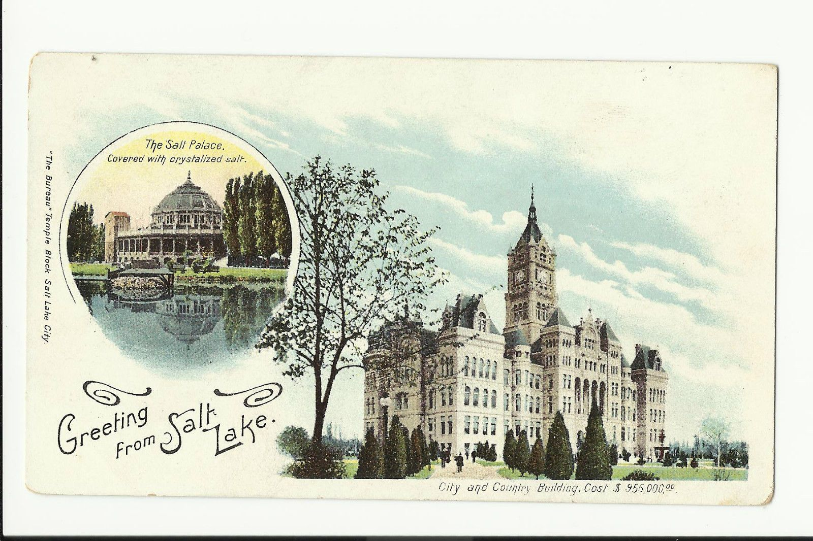 Greeting from salt lake city utah postcard utah postcards greeting from salt lake city utah postcard kristyandbryce Image collections