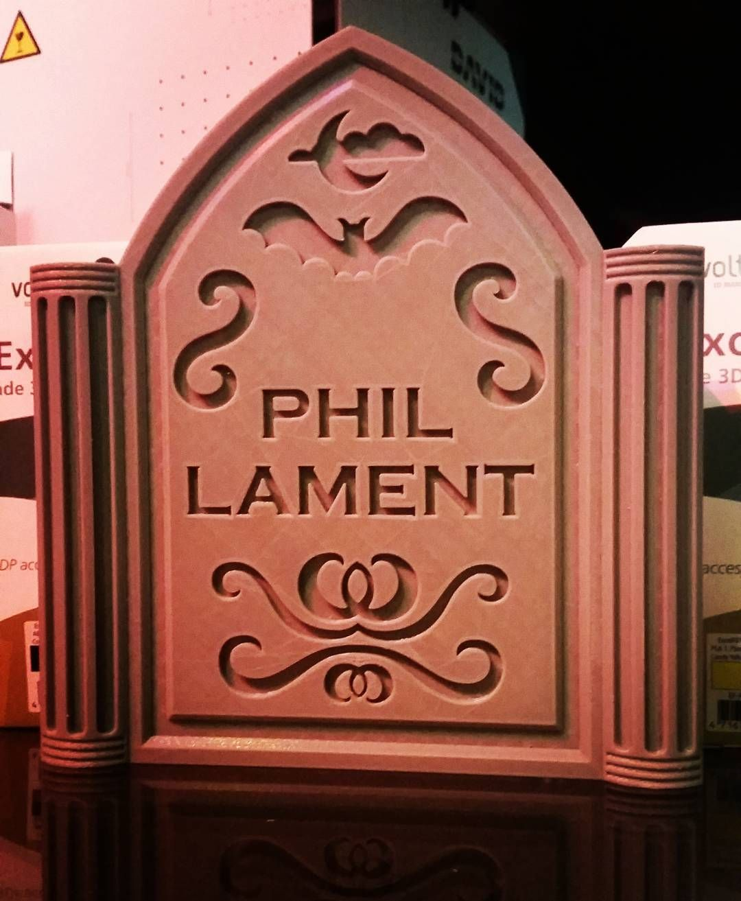 May you rest in peace mr phil lament! #rip #filament #halloween #tombstone #3dprinterfilament #3dprint #3dprinting #creapy #Creatbot #pla by 3dprintersuperstore