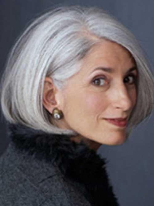 Short Thick Bob For Grey Hair With Images Silver Hair Grey