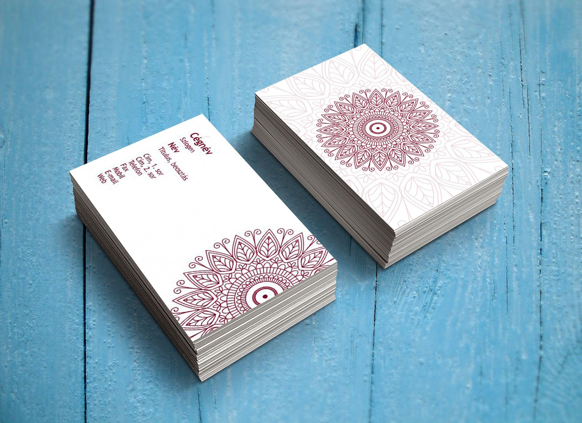 mandala latest business card templates legújabb névjegykártya