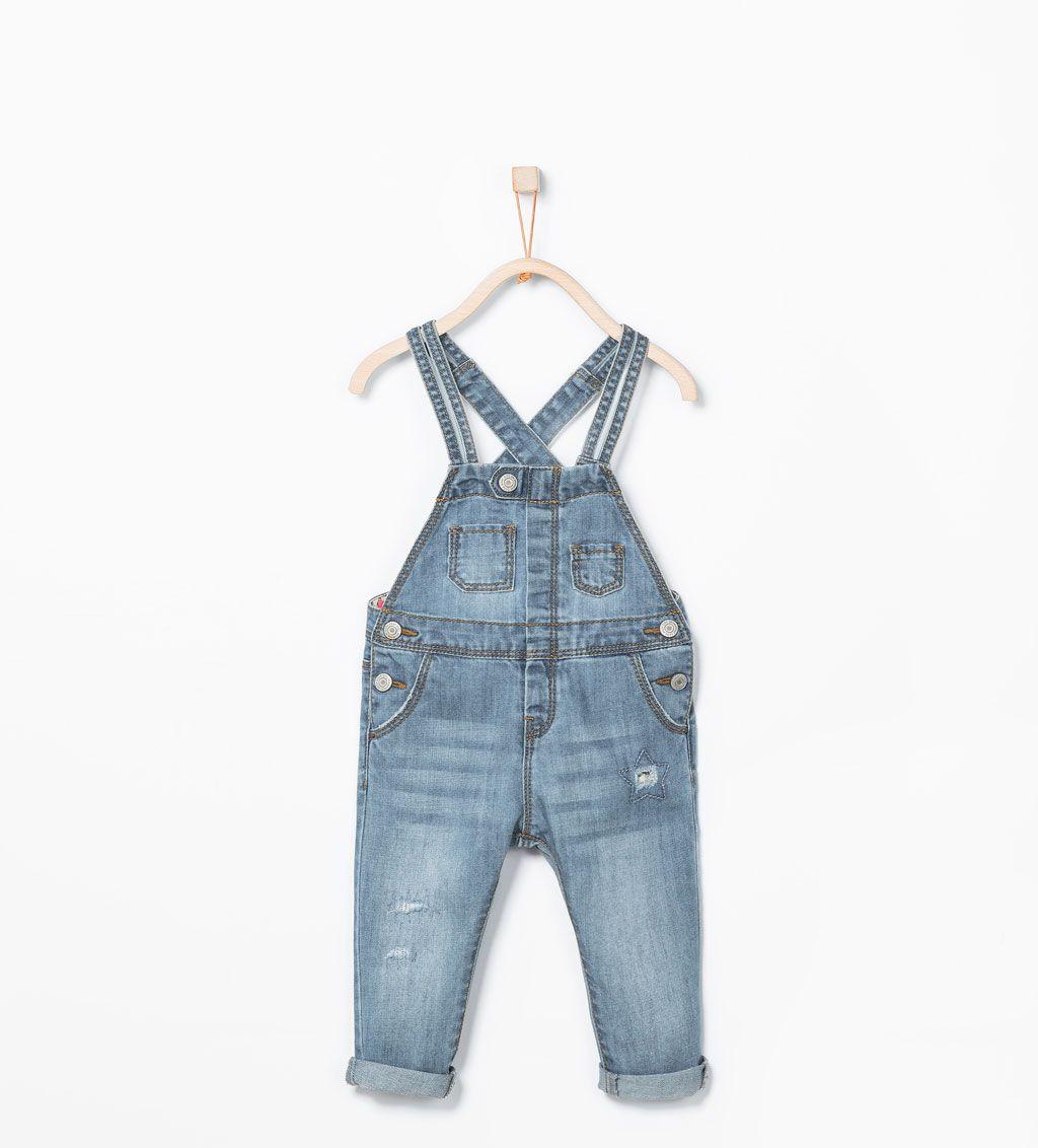 Denim dungarees-Jeans-Baby girl (3 months - 3 years)-KIDS   ZARA ...