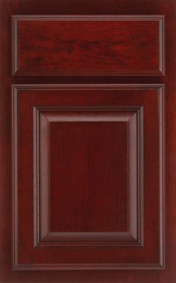 Medallion Silverline Columbia Cherry Vineyard Deep Red Wood Stain Finish Accented By Hand Lied Dry Brush Black Glazed