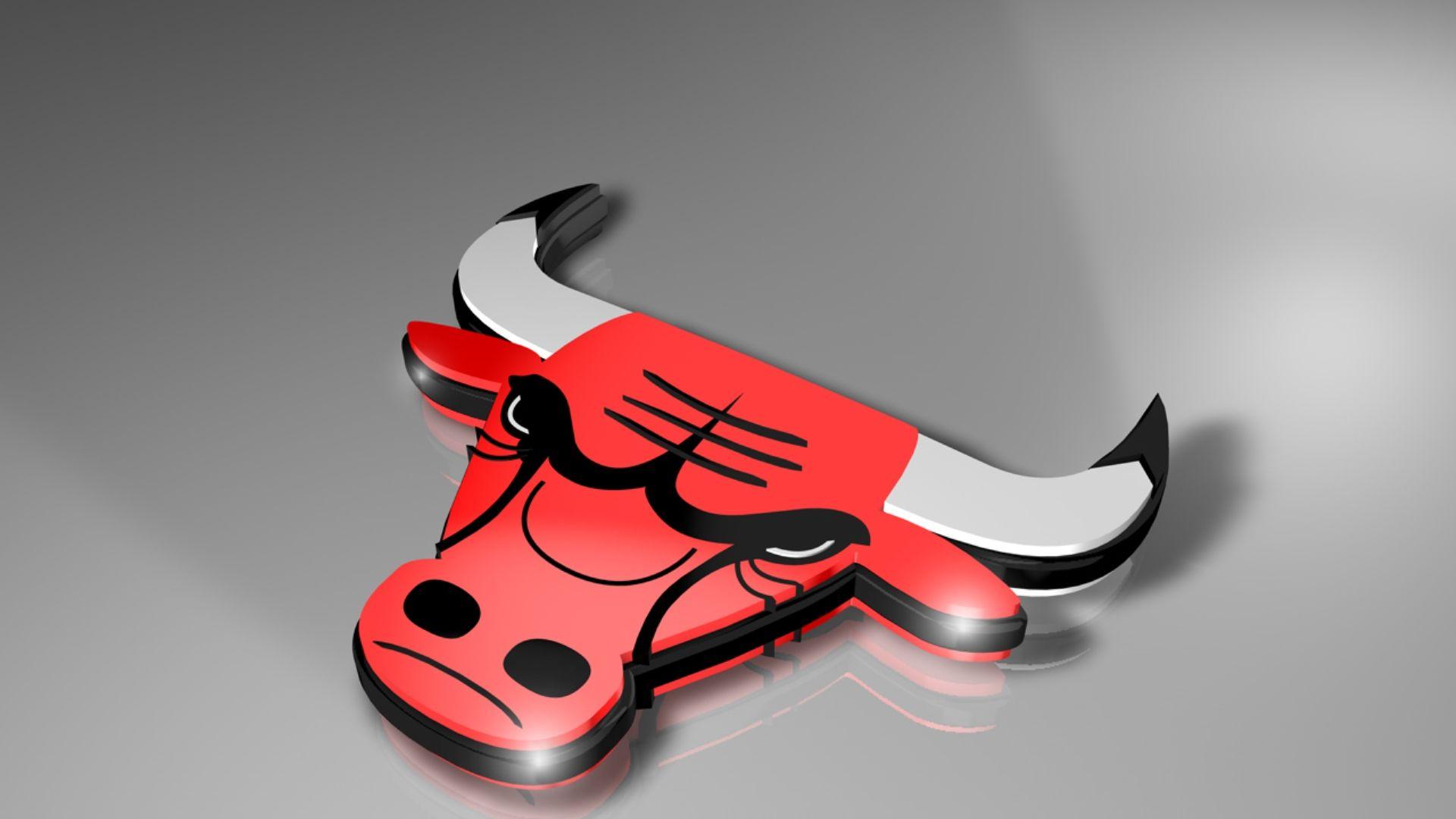 Chicago Bulls 3d Logo Wallpaper Logo Wallpaper Hd