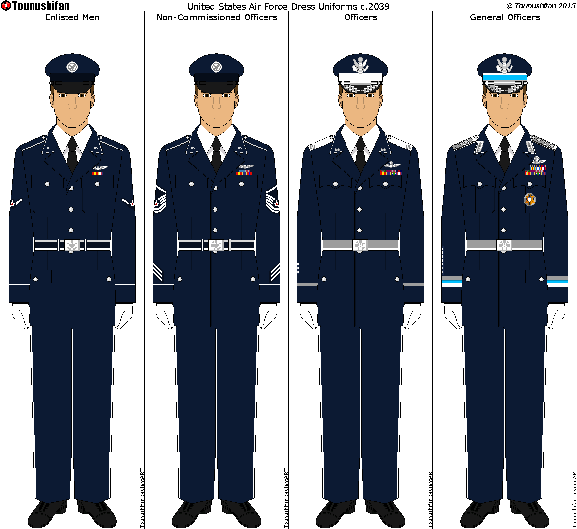 New Air Force uniforms for use 2016-2039