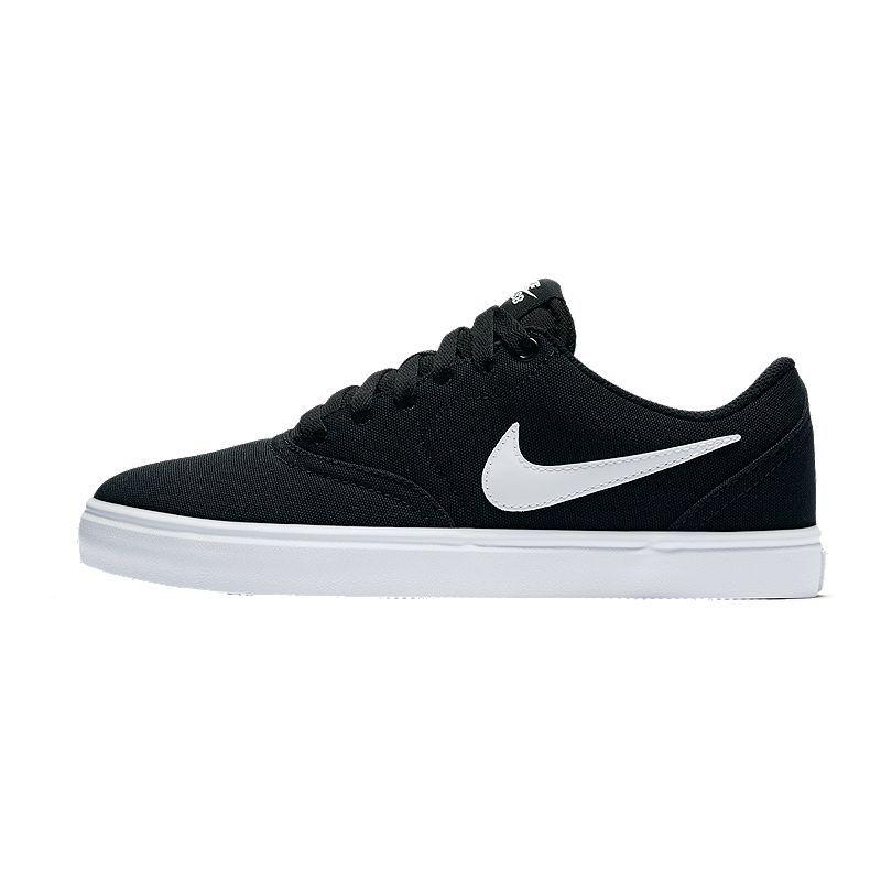 1abeb48bfadde0 Nike SB Women s Check Solar Canvas Skate Shoes - Black White in 2019 ...