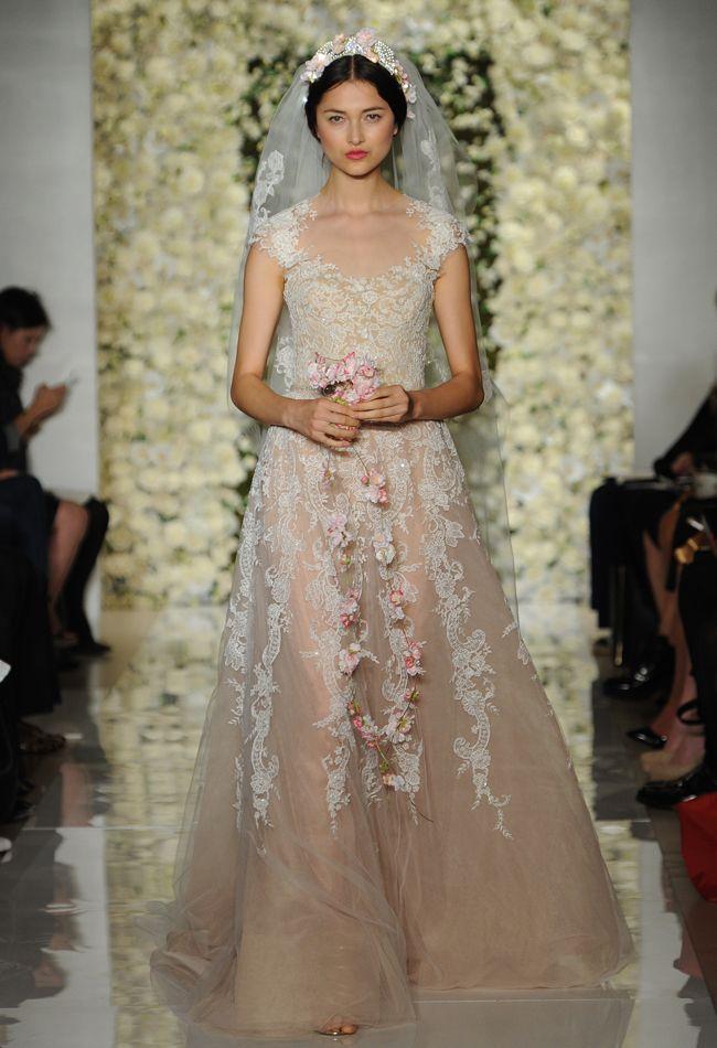 Reem Acra Featured Sheer Crop Top Wedding Dresses And Full