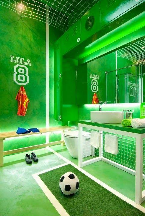 Extreme Interior Design: Sports Meet Bathroom Decor