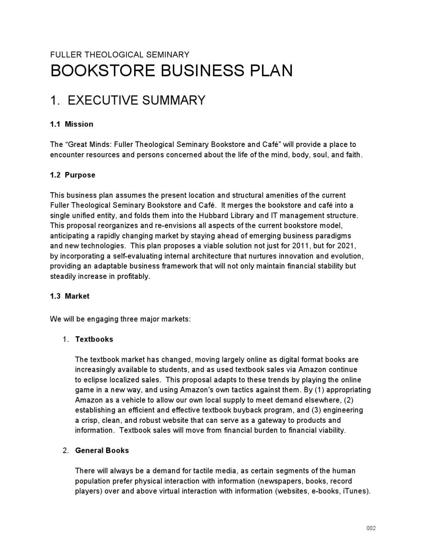 Bookstore coffee shop business plan stakeholder business plan