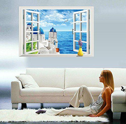 Adesivi Murali 3d Grandi.Lifeup 3d Adesivi Murali Grandi Camera Da Letto Soggiorno
