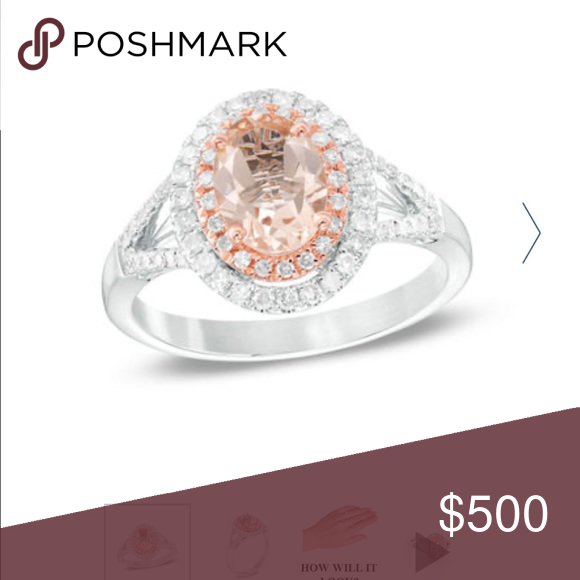 Oval Morganite And 1 3 Carat Diamond Ring 3 Carat Diamond Ring Oval Morganite 3 Carat Diamond