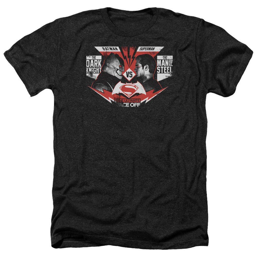 Men's Batman vs Superman T-Shirt with Ultimate Face Off Graphic