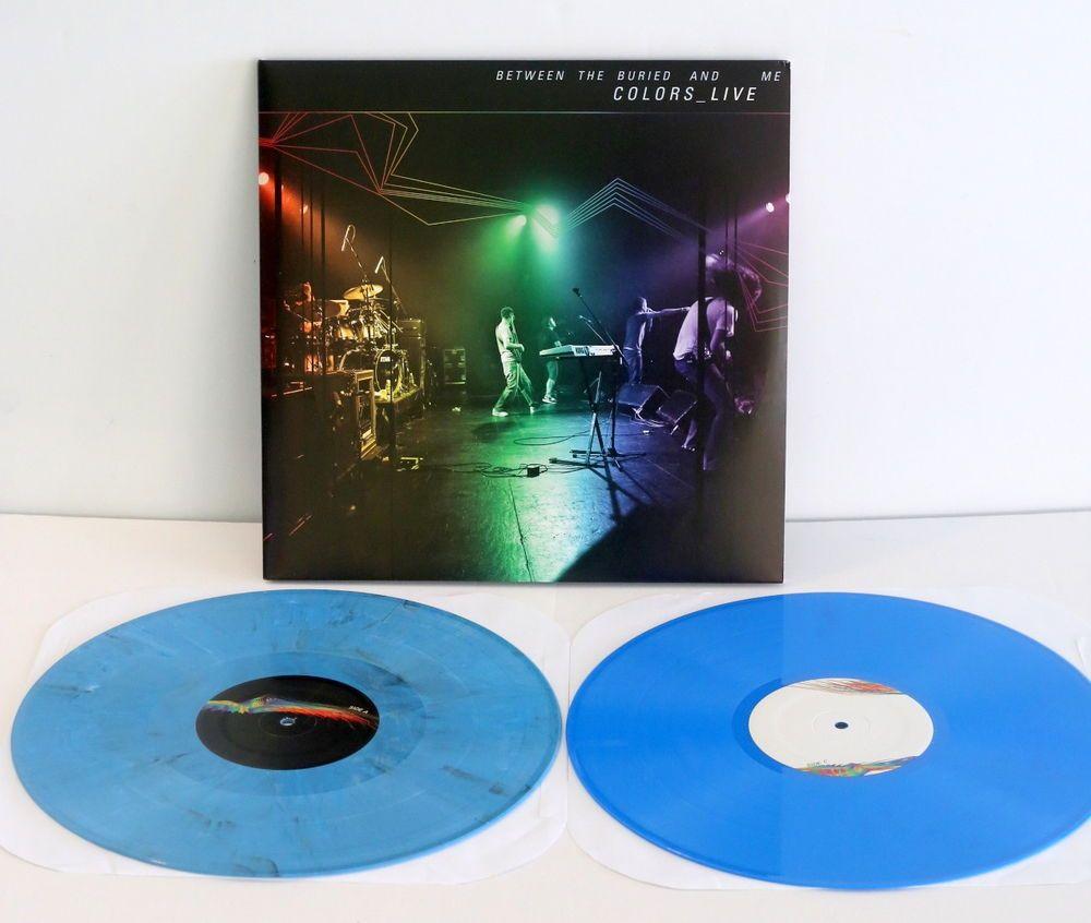Between The Buried And Me Colors Live Double Lp Record Blue Vinyl Blue Vinyl Vinyl Lp Albums