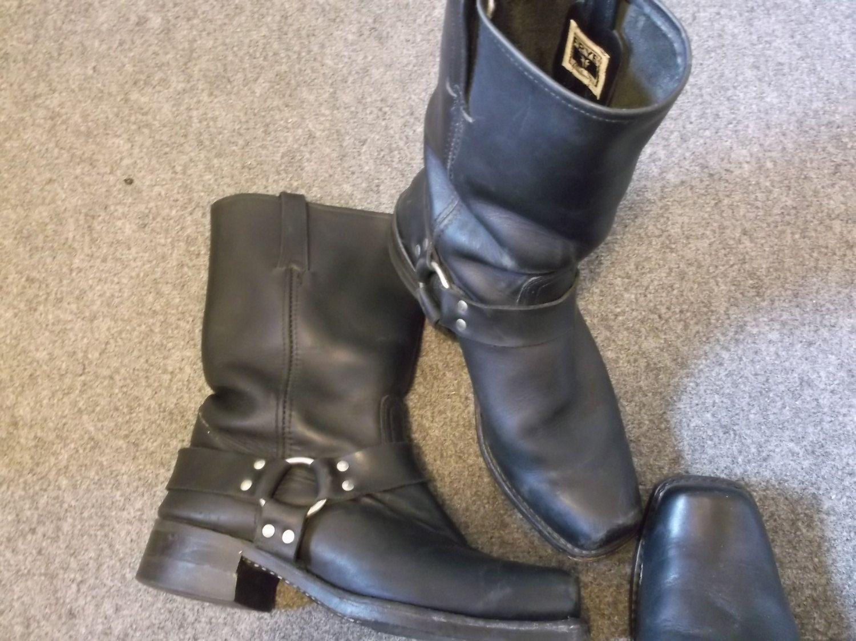 vintage frye harness boots motorcycle boots campus. Black Bedroom Furniture Sets. Home Design Ideas