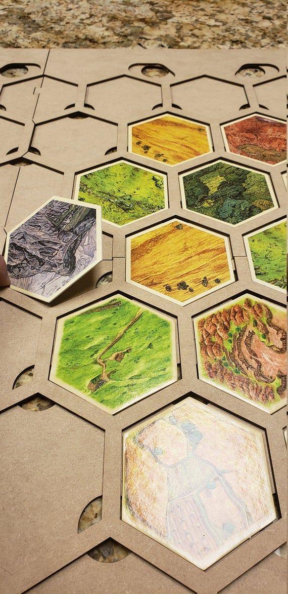Catan 65 Tile Frame for Seafarers Frame, Island, Things